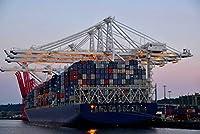 ERZAN1000ピース木製パズルシアトル港にドッキングされたコンテナ船大人パズル のすべ