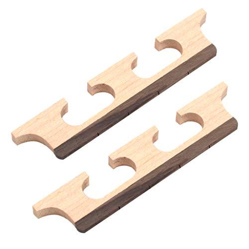 2x Puente de Banjo de 4 Cuerdas Pulido Artesanal Grabación Procesado Informático