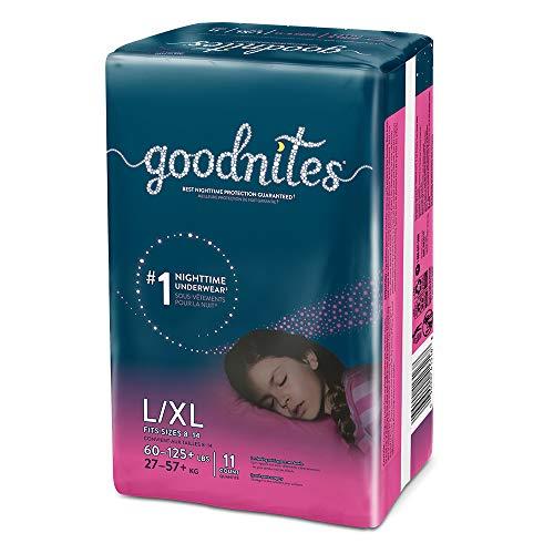 Price comparison product image Goodnites,  Girls Bedwetting Underwear,  L / XL,  11 Ct
