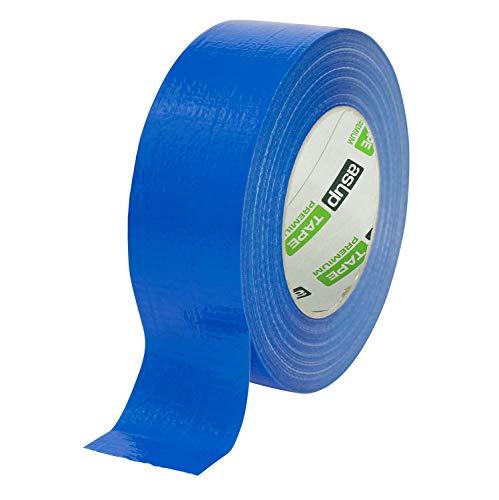 asup TAPE PREMIUM - Gewebeklebeband - 48 mm x 50 m - blau | für Innen- und Außenanwendung | für glatte und raue Oberflächen |von Hand reißbar | feuchtigkeitsbeständig