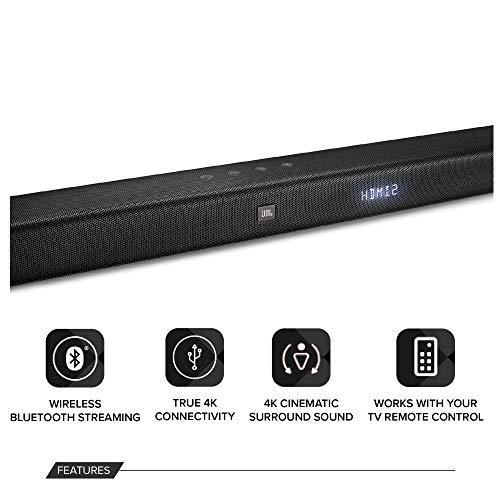 JBL BAR 3.1-Channel 4K Ultra HD Soundbar with Wireless Subwoofer