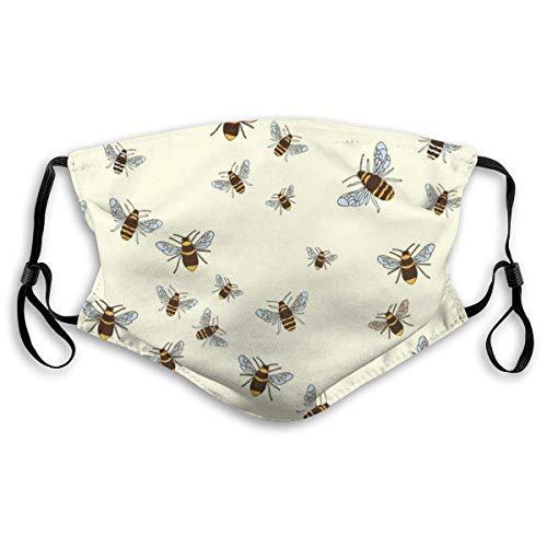 Fillter Face Cloth voor mannen, bijen, vogels, wasbaar, ademend, stofbeschermende oorbellen, voor op reis, dubbele bescherming
