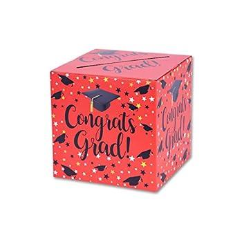 Graduation Box – Graduation Card Box Graduation Party Decoration – 1 Set RED