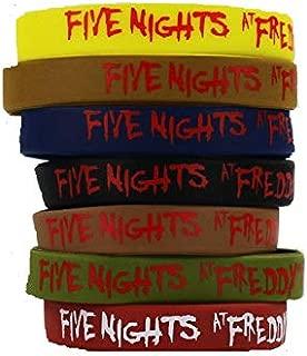 FIVE NIGHTS AT FREDDY'S (FNAF) 7PCS SILICONE BRACELET SET