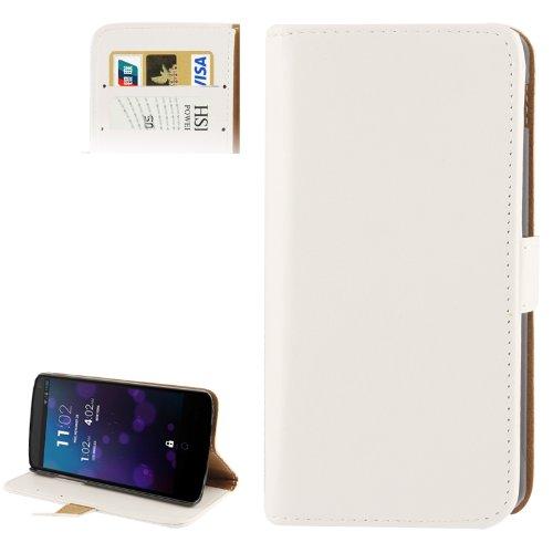 HH-Phone Case Crazy Horse - Funda de piel con ranura para tarjeta de crédito y soporte para Google Nexus 5 Hangma (color: blanco)