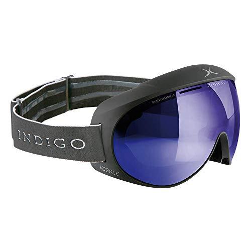 Indigo Voggle Mirror Blau | Asian Fit | Titan | Ski & Snowboard Brille | Hochwertige Qualität