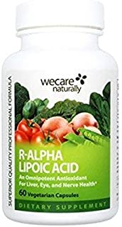 R-Alpha Lipoic Acid 200 mg (60 Vegetarian Capsules), superior antioxidant for liver, eyes, and nerve systems.