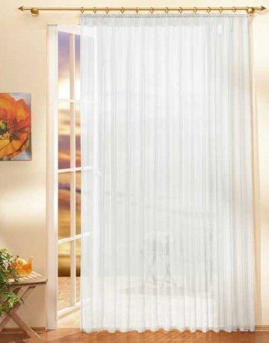 Gardinen Store Voile mit Kräuselband, 245x300, Weiß, 610011
