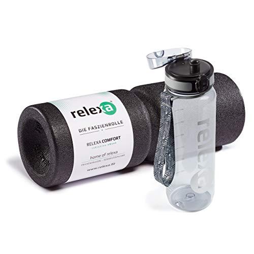 relexa comfort Duo - Faszienrolle und Trinkflasche im Set