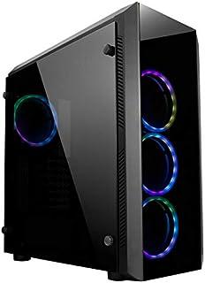 Chieftec Scorpion II Midi-Tower Negro - Caja de Ordenador (Midi-Tower, PC, SPCC, Vidrio Templado, Negro, ATX,Micro ATX,Mini-ITX, Juego)
