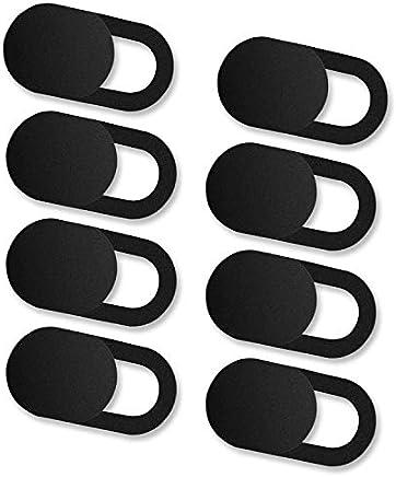 iVoler [8 Unidades] Cubierta Webcam, Webcam Cover Slider Diseño Ultra Fino Camera Cover Tapa Webcam para Todo Tipo de Ordenadores Portátiles, Tabletas y Móviles Inteligentes - (Negro)