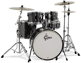 Gretsch Energy 5 Piece Drum Set w/ Hardware and Planet-Z Cymbals (Grey Steel)