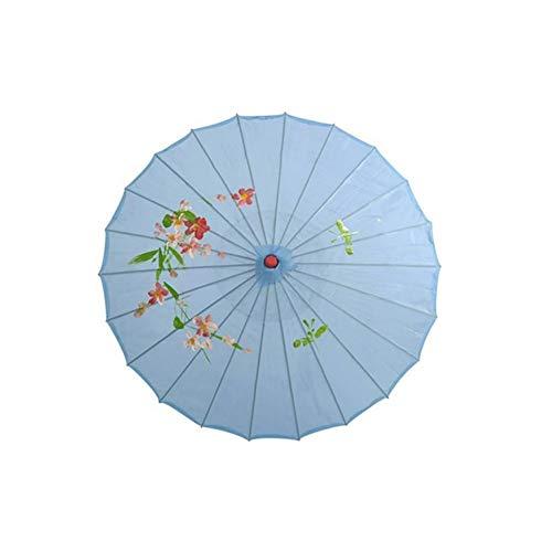 AFTWLKJ Paraguas de seda china paraguas de seda de la vendimia foto de la boda del parasol danza Apoyos de la vendimia de la boda del parasol danza Apoyos Decoración AFTWLKJ ( Color : Sky Blue )