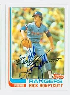 Rick Honeycutt AUTOGRAPH 1982 Topps #751 Texas Rangers