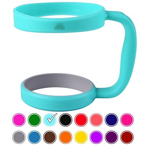 30oz Tumbler Handle (Teal) by STRATA CUPS - Available For 30oz YETI Tumbler, OZARK TRAIL Tumbler, Rambler Tumbler - BPA FREE