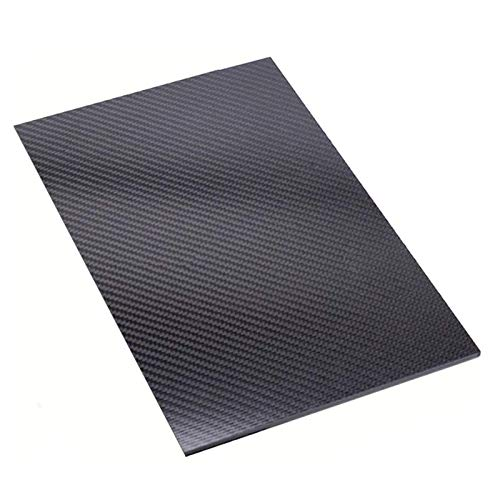 IQQI 3K Carbon-Faser-Platte, Matte Köper, für DIY Und Spielzeug Zubehör (Stärke 1/1.5mm, 100 × 100 mm),1.5×100×100mm