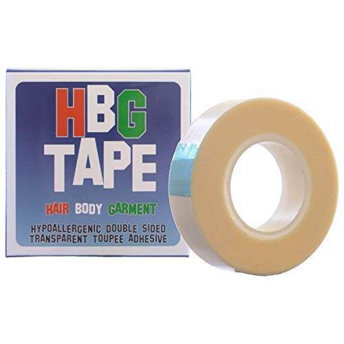 Transparent Toupee Adhesive Tape (Wig Tape,Dress Tape) 12mm by HBG Tape (Hair, Body and Garment Tape)