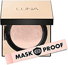 AEKYUNG LUNA 50-Hours Conceal Fixing Cushion Foundation Refill Included, Full Coverage SPF 50+ Korean Makeup #21 Cool Ivory