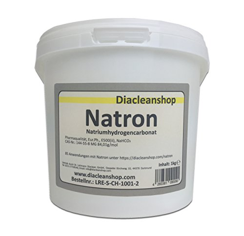 Natron 1 kg in pharmazeutischer Qualität – Natriumhydrogencarbonat (E500ii) - Backsoda - Bakingsoda - Basenbad - Hausmittel zum Backen, Reinigen, Baden, Gerüche Neutralisieren & DIY-Kosmetik