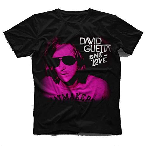CHENYINJJ David Guetta Ih-18-B Hombre Comfortable Cotton Short Sleeve Camiseta Tshirt