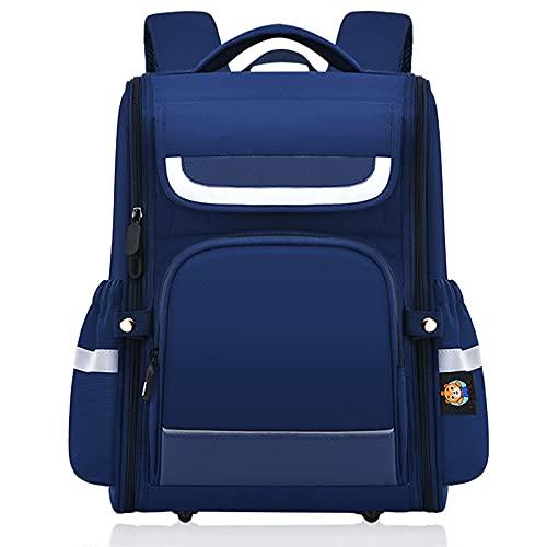 YIXIN 5 – 16 anni, borsa da scuola confortevole in nylon multi-tasca per studenti traspirante leggero zaino casual adatto per ragazzi, Blu, Taglia unica,