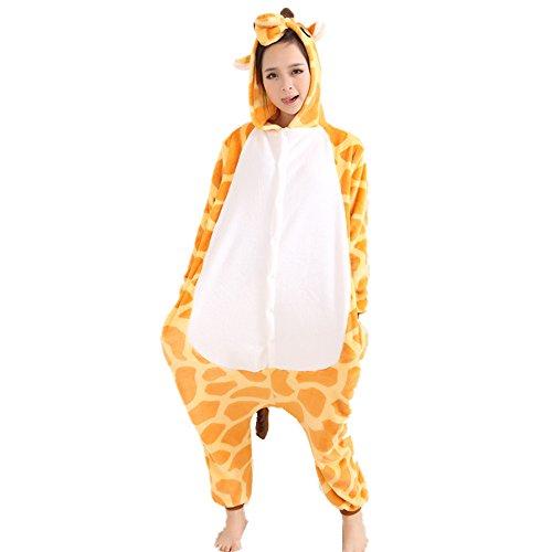 Jysport - Pijama de unicornio, unisex, con capucha de forro