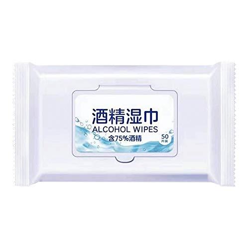 WCJ Pack Vochtige doekjes Gentle Flushable, Touch Lens Cleaning Hand Wipes for thuisgebruik Een verpakking / 50 tablets * 3 packs, 15 * 20 cm