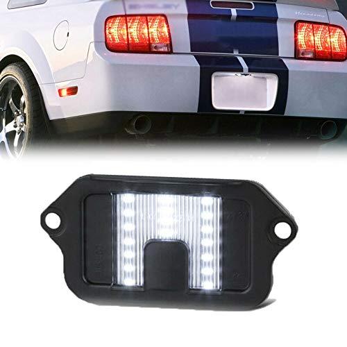 IJEOKDHDUW Licencia vehículo matrícula Luz Izquierda Derecha Reemplaza LED Compatible with el Coche luz de la Placa 6000K Luces del Coche