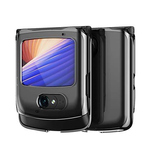 Hülle für Motorola razr 5G,Transparent PC Handyhülle Rückseite für Motorola razr 5G,Muster 11