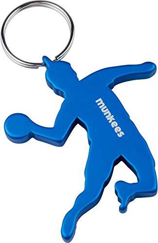 munkees Schlüsselanhänger Handballer I Handball-Anhänger I integrierter Flaschenöffner (Blau)