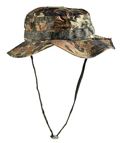 A. Blöchel US Army Outdoor Dschungelhut Rip Stop Boonie Hat Schlapphut in vielen Farben und Größen (L, Flecktarn Typ II)