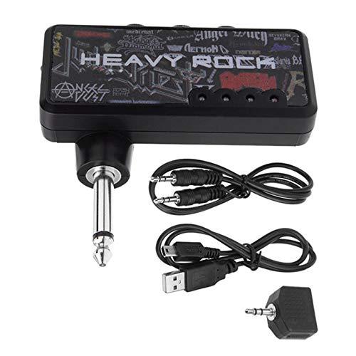 ZXCV Amplificador de Guitarra eléctrica portátil, Mini Amplificador de Auriculares, Efecto de...