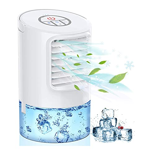 KASAN Raffreddatore Raffreddatore d'Aria Portatile, Mini Ventilatore del Condizionatore d'Aria, Condizionatori d'Aria Mobili per La Casa, Ventilatore 3 in 1 Condizionatore per Ufficio, Casa