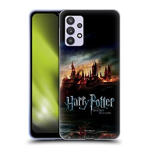 Head Hülle Designs Offiziell Offizielle Harry Potter Burg Deathly Hallows VIII Soft Gel Handyhülle Hülle kompatibel mit Samsung Galaxy A32 5G (2021)