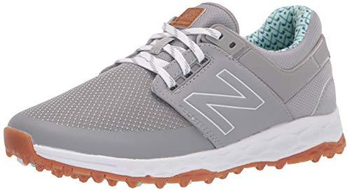 New Balance Women's Fresh Foam LinksSL Golf Shoe, Grey/Blue, 10.5