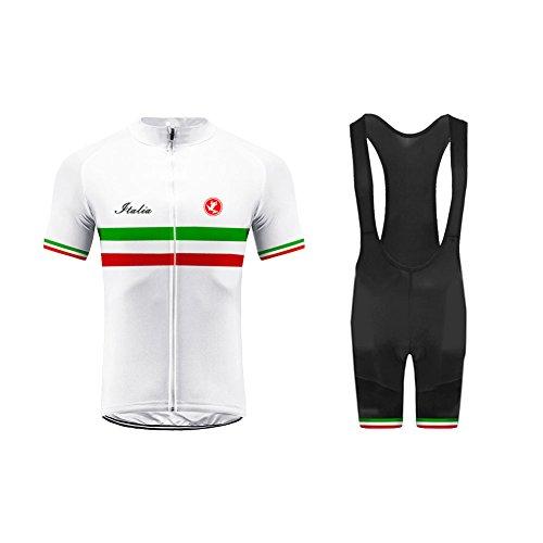 Uglyfrog Männer Team Radtrikot Anzug Italy Flag Designs Breathable Kurzarm Shirt + Enge Shorts Set für Rennrad Racing Outdoor Sports