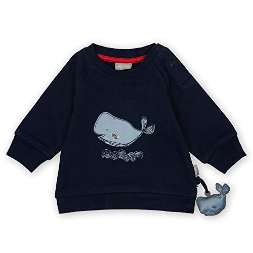 Sigikid Baby-Jungen Sweatshirt aus Bio-Baumwolle für Kinder Sudadera de algodón orgánico para niños, Azul/Ballena, 6 Mes para Bebés