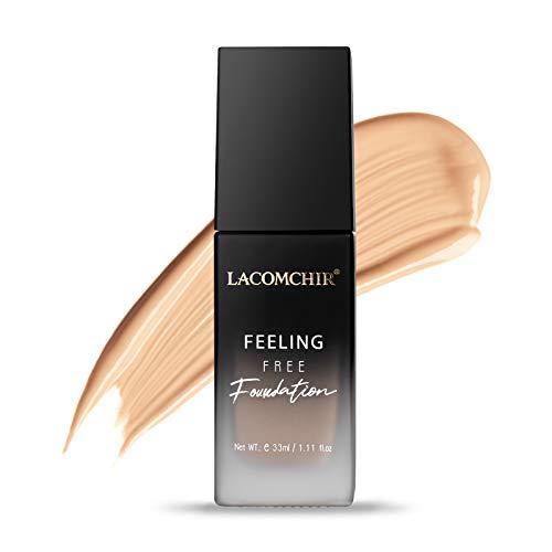 Lacomchir Feeling Free Base Maquillaje Cobertura Total 33 ml 24H Larga Duración Mate Foundation Líquido - Maquillaje Mujer - Antiarrugas y Reparadora - Waterproof - Vegano | Libre de Crueldad - MEDIUM