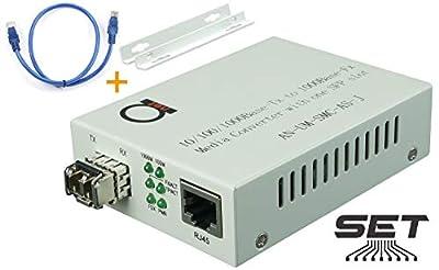Multimode LC 850 nm Gigabit Fiber Media Converter - Includes SFP 550 m (0.34 Miles) LC ? to UTP Cat5e Cat6 10/100/1000 RJ-45 ? Auto Sensing Gigabit or Fast Ethernet Speed - Jumbo Frame - LLF Support