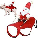 Fansport Disfraz De Navidad para Mascotas,Ropa para Perros Cosplay Ajustables Disfraz Gato para Perro Gato Adecuado para Navidad, Fiesta, Cumpleaños, etc