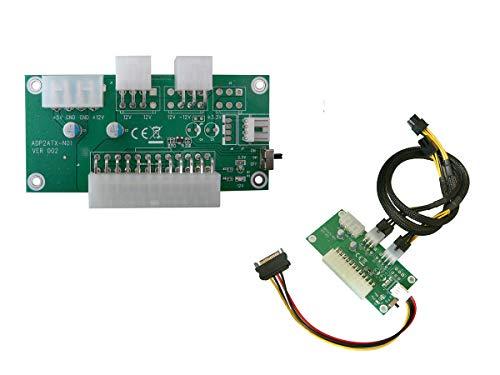 KALEA-INFORMATIQUE © ATX-Netzteil für Grafikkarte (GPU)-ATX24 an Molex und P6, geeignet zum mining Bitcoin-Kabel im Lieferumfang enthalten