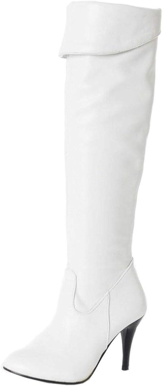 NIGHTCHERRY Women High Heel Thigh High Boots Zipper