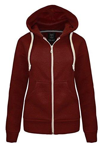 De vestir nuevo con capucha y cremallera a tamaño de la funda de para mujer en la parte superior y sudadera con capucha 6 14