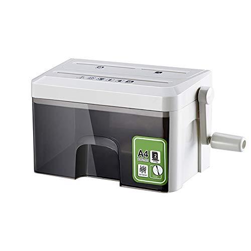 Destructora de papel portátil con CD destructor, tarjetas de crédito, clips, papelera, cesta de papel de 3,5 litros con ventana transparente