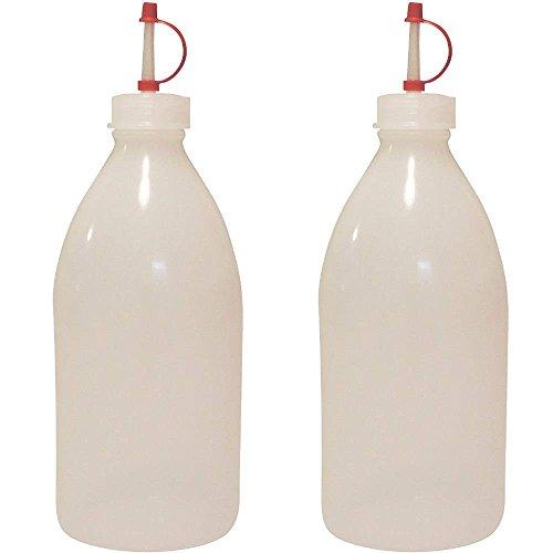 Mikken 2 x Medizinflasche 500 ml Spritzflasche Tropfflasche BPA-frei made in Germany, inkl Einfülltrichter