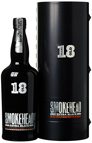 Smokehead Extra Black 18 Years Old mit Geschenkverpackung  Whisky (1 x 0.7 l)