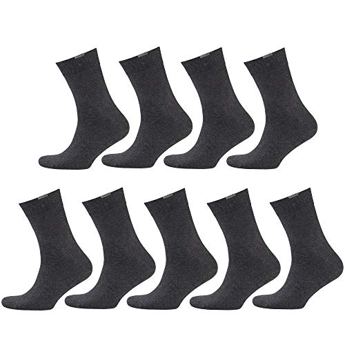 NUR DER Herren Passt Perfekt 9er Pack Socken, antharzit, 43-36