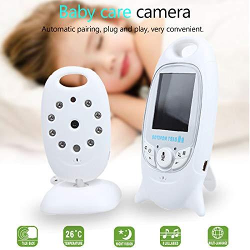 con vision nocturna personas mayores SODIAL VB601-1 2.4G monitor de video inalambrico para bebe mascotas pantalla LCD bidireccional monitoreo de temperatura para bebes