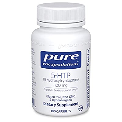 Pure Encapsulations - 5-HTP (5-Hydroxytryptophan) 100 mg - Hypoallergenic Dietary Supplement to Promote Serotonin Synthesis - 180 Capsules