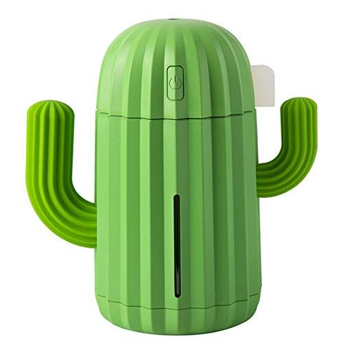 SODIAL Humidificador de Aire USB Cactus 340ML SincronizacióN Aromaterapia Difusor de Aceite Esencial Aroma Mist Maker Fogger con Verde Claro